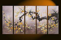 Barato 5243 frete grátis pintado à mão 5 peça moderna decorativo óleo sobre tela arte da flor de cerejeira para sala de estar, Compro Qualidade Pintura & caligrafia diretamente de fornecedores da China:        Transformar suas fotos em belas pinturas sobre tela            Nós podemos personalizar o seu fim, retrato