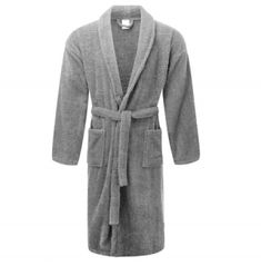 Homesware Offers a Grey Bath Robe at a very cheap price. Over Bathrobe is made with pure and finnest Materia. Terry Towel, Shop Around, Snug Fit, Navy And White, Dressing, Gowns, Pure Products, Female, Luxury