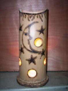 lamparas decorativas en bambu - Buscar con Google