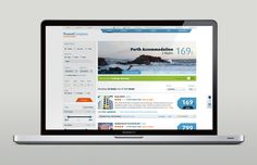 Travel Website Redesign by Martin Oberhäuser, via Behance