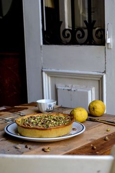 Maltese Ricotta Pie with Lemon Syrup and Pistachios ° eat in my kitchen