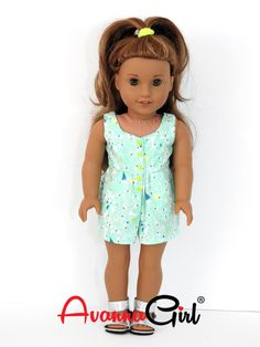 Surfrider Romper for American Girl Doll, 18 Inch Doll