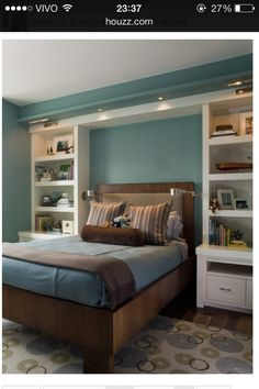"""This was originally labeled as """"teen boy bedroom"""" but I want these shelves for myself."""