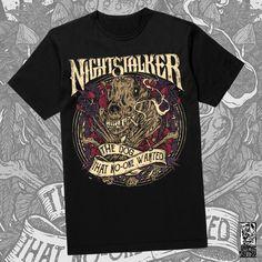 T-Shirt Artwork for the Greek Legendary Stoner band Nightstalker Rock Music, Behance, Dogs, Mens Tops, T Shirt, Design, Fashion, Supreme T Shirt, Moda