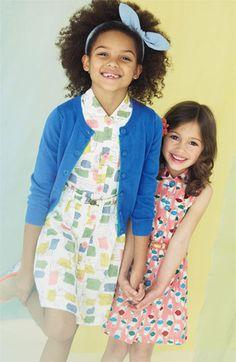 Mini Boden Shirtdress & Cardigan (Toddler, Little Girls & Big Girls) | Nordstrom
