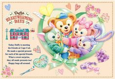 Disney Dream, Disney Love, Duffy The Disney Bear, Disney Illustration, Disney Cookies, Disney Cards, Gatos Cats, Tokyo Disney Sea, Happy Friends