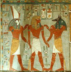 -Horus and Anubis