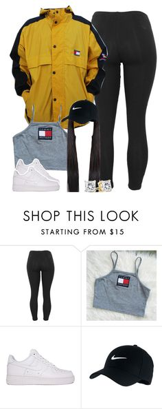 """""""Untitled #1413"""" by lulu-foreva ❤ liked on Polyvore featuring Tommy Hilfiger, NIKE, women's clothing, women, female, woman, misses and juniors"""