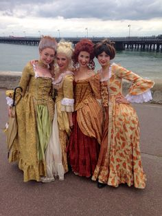 Scarlett & Giselle with lovely lady friends.  Costumes made by Fairy-Tailor.