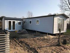 en schuur ergens in Nederland op de camping natuurlijk gebouwd door Chaletbouw Goeree