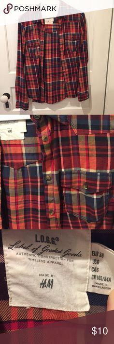 Fall colors button down Fall colors button down  shirt flannel H&M Tops Button Down Shirts