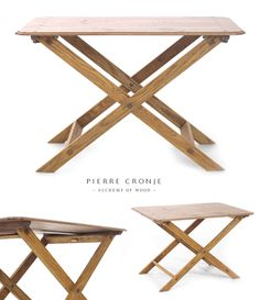 A Pierre Cronje Trek Table table.  The table can be disassembled and packed into your car for a picnic... or a trek.