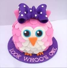owl birthday cake - Google Search
