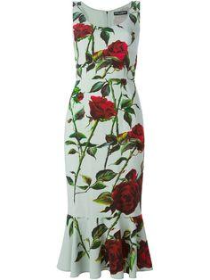 Dolce & Gabbana Vestido Evasê Floral - Donne Concept Store - Farfetch.com