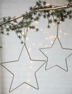Wire Star Christmas Decoration at Rose & Grey