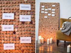 Creating a rustic wedding feeling couldn't be easier than with this DIY project - an Escort Card Board made of Corks, that doubles as a noticeboard later on Diy Wedding Projects, Diy Projects, Wedding Ideas, Wine Cork Table, Diy Cork Board, Cork Wall, All The Way Down, Rustic Wedding, Destination Wedding