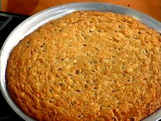 Get this all-star, easy-to-follow Giant Chocolate Chip Cookie Cake recipe from Emeril Lagasse