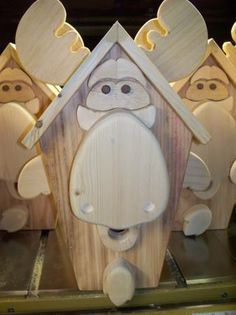 bird house. moose pattern
