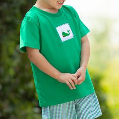 The Boys Nantucket Whale Smocked Shirt is a classic top for boys featuring custom whale smocking. Shrimp And Grits Kids, Team Gifts, Whale Watching, Nantucket, Green Cotton, Smocking, Boy Or Girl, Shorts, Boys
