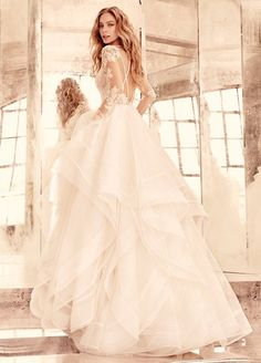 Hayley Paige aline lace wedding dresses 2016 with long sleeves
