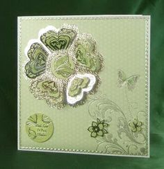 Card Making Project - Green and Silver Butterfly Sorbet Card