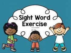 Read and Exercise together!! Enter for your chance to win 1 of 2. Sight Word Exercise  (36 pages) from Lovin' Kinder on TeachersNotebook.com (Ends on on 04-23-2016) Need a way to review sight words AND keep your students up and moving?  This product is for you!  Enter to win!  If you don't feel like waiting, hop on over to Lovin' Kinder and take advantage of all of our exercise products!  On sale this week only!.