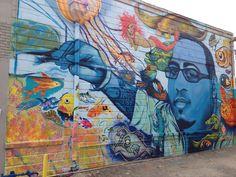 BC Woo memorial mural in downtown St. Pete.