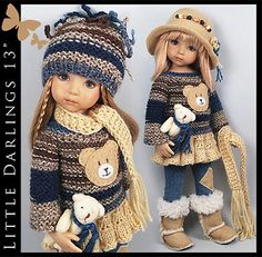 Blue-Beige-Outfit-BEAR-BOOTS-Little-Darlings-Effner-13-by-Maggie-Kate. Ends 9/4/14.