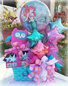 """Arreglo Sirenita """"Detalles globos y chocolates"""""""
