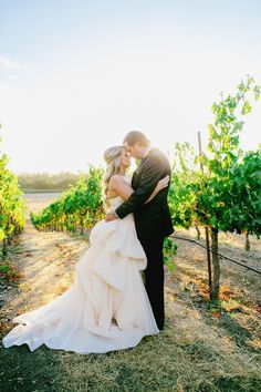 Jaw-dropping vineyard wedding: http://www.stylemepretty.com/california-weddings/sonoma/2017/02/13/getting-married-al-fresco-never-looked-so-pretty/ Photography: Milou and Olin - http://www.milouandolin.com/