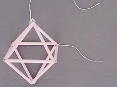 DIY-Anleitung: Pastellfarbenes Himmeli basteln via DaWanda.com