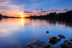 Sunset at Rusalka lake, Poznan.