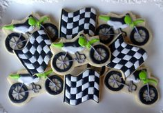 Dirt Bikes Motocross Sugar Cookie! great idea! I can definitely make these :)