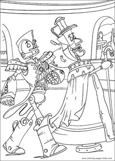 robot Robots color page, disney coloring pages, color plate, coloring sheet,printable coloring picture