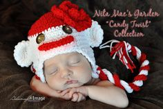 Sweet Sock Monkey Hat Size NEWBORN Crochet Baby by NitaMaesGarden. $28.95, via Etsy.  READY TO SHIP.... ONLY ONE LEFT SZ. NEWBORN Perfect for 4th of July photos!