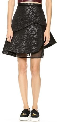 MSGM Zebra Neoprene Structured Skirt | SHOPBOP