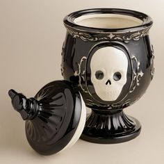 Black Skull Apothecary Treat Jar- think you can get something similar at Target, but I imagine the good stuff is gone.