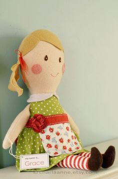 Grace doll by charlaanne on Etsy