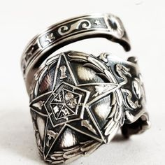 O.E.S. Spoon Ring Order of the Eastern Star Masonic by Spoonier, $67.00