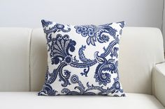 Traditional Chinese Style blue white porcelain Cushion Cover Pillow Case Pillow cover pillowcase suiting table cloth in store