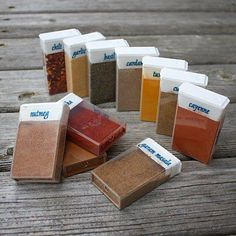 Empty TIC TAC Containers make  GREAT >>> SPICE CONTAINERS  for when you are Camping , On the Road,Or Just for your BBQ Area.