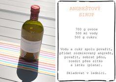 #angreštový #sirup Wine, Drinks, Bottle, Drinking, Beverages, Flask, Drink, Jars, Beverage