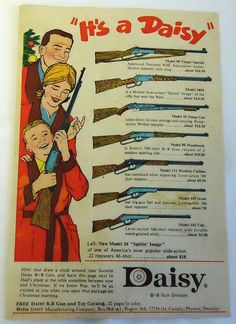 1965 IT'S A DAISY Christmas bb gun ad page