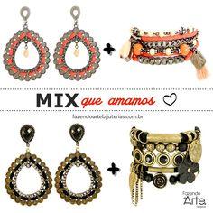 Mix que amamos: KIT de brinco + KIT de pulseira! Novidades no site! Monte seus acessórios e arrase!!!