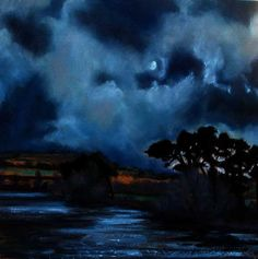 Irish Landscape  'Moonlight over the Lake'  Irish Landscape painting  Irish Art