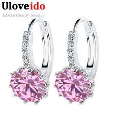 Find More Drop Earrings Information about 925 Silver Blue Stone Ruby Large CZ Diamond Crystal Earrings Cubic Zirconia Women Aneis Hot Product Boucle D'oreille Femme DML49,High Quality earring tag,China earrings tragus Suppliers, Cheap earrings children from ULOVE Fashion Jewelry Official Store on Aliexpress.com