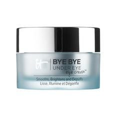 Clinically shown to reduce signs of aging and lighten up the dark side, this one includes collagen, essential oils, caffeine and more.