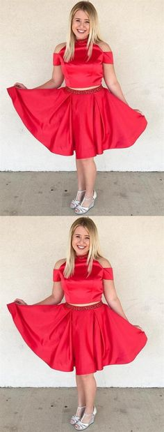 Beautiful Two Pieces Homecoming Dresses Two Piece A Line Short Red Homecoming Dresses, Shop plus-sized prom dresses for curvy figures and plus-size party dresses. Ball gowns for prom in plus sizes and short plus-sized prom dresses for Elegant Homecoming Dresses, Two Piece Homecoming Dress, Prom Dresses Two Piece, Dresses Short, Graduation Dresses, Next Dresses, Hoco Dresses, Bridesmaid Dresses, Party Dresses