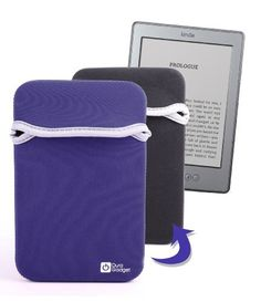 DURAGADGET Reversable BLUE / BLACK Water Resistant Neoprene Case/Cover For New 2011 Amazon Kindle 4, Kindle Touch, Kindle Touch 3G, Kindle Fire & Kindle Fire 2 (Latest Generation, July 2012) And Kindle 3 by DURAGADGET. $25.99