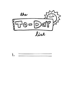 Today List by Laura Wilson - wonderful idea, seem so often that a to-do list is overwhelming and hurts productivity rather than helps. This seems do-able.